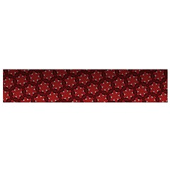 Ombre Black And Red Passion Floral Pattern Flano Scarf (small)