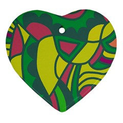 Green abstract decor Ornament (Heart)