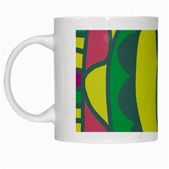 Green abstract decor White Mugs