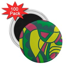Green abstract decor 2.25  Magnets (100 pack)