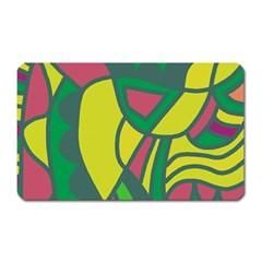 Green abstract decor Magnet (Rectangular)