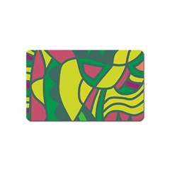 Green abstract decor Magnet (Name Card)