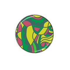 Green abstract decor Hat Clip Ball Marker (10 pack)