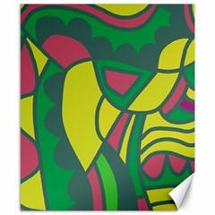 Green abstract decor Canvas 8  x 10