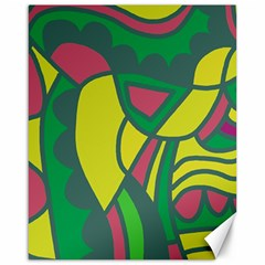 Green abstract decor Canvas 16  x 20