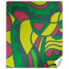 Green abstract decor Canvas 20  x 24