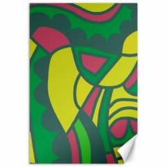 Green abstract decor Canvas 24  x 36