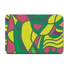 Green abstract decor Small Doormat