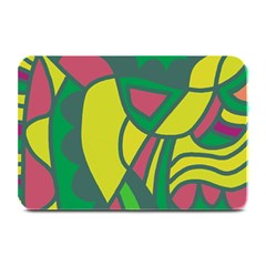 Green abstract decor Plate Mats