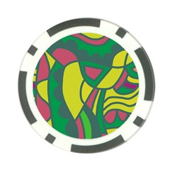Green abstract decor Poker Chip Card Guards