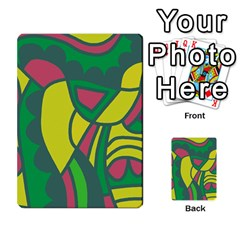 Green abstract decor Multi-purpose Cards (Rectangle)