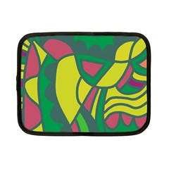 Green abstract decor Netbook Case (Small)