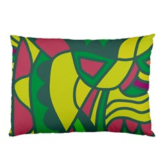 Green abstract decor Pillow Case