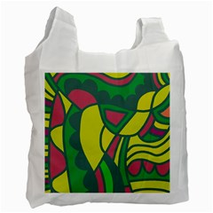 Green abstract decor Recycle Bag (One Side)