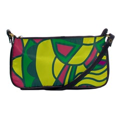 Green abstract decor Shoulder Clutch Bags