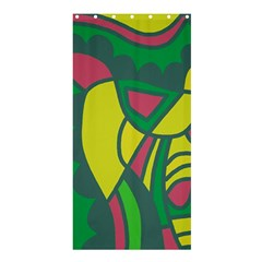 Green abstract decor Shower Curtain 36  x 72  (Stall)
