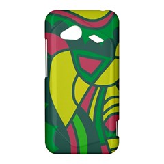 Green abstract decor HTC Droid Incredible 4G LTE Hardshell Case