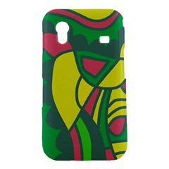 Green abstract decor Samsung Galaxy Ace S5830 Hardshell Case