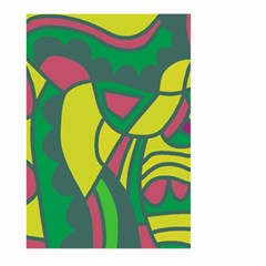 Green abstract decor Large Garden Flag (Two Sides)