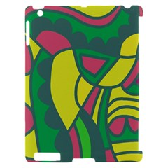 Green abstract decor Apple iPad 2 Hardshell Case (Compatible with Smart Cover)