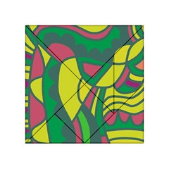 Green abstract decor Acrylic Tangram Puzzle (4  x 4 )