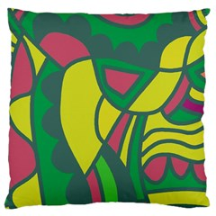 Green abstract decor Large Cushion Case (Two Sides)