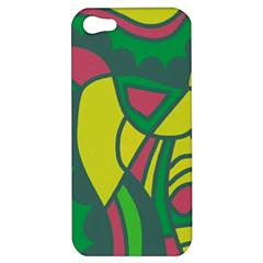 Green abstract decor Apple iPhone 5 Hardshell Case