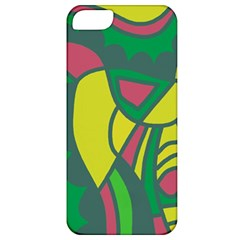 Green abstract decor Apple iPhone 5 Classic Hardshell Case