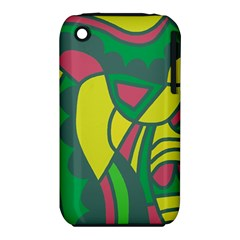 Green abstract decor Apple iPhone 3G/3GS Hardshell Case (PC+Silicone)
