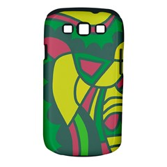 Green abstract decor Samsung Galaxy S III Classic Hardshell Case (PC+Silicone)