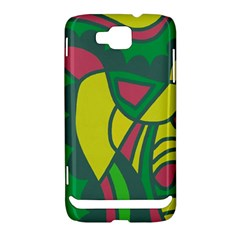 Green abstract decor Samsung Ativ S i8750 Hardshell Case