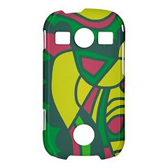 Green abstract decor Samsung Galaxy S7710 Xcover 2 Hardshell Case