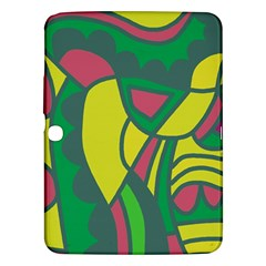 Green abstract decor Samsung Galaxy Tab 3 (10.1 ) P5200 Hardshell Case
