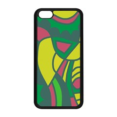 Green abstract decor Apple iPhone 5C Seamless Case (Black)