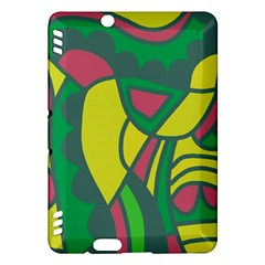 Green Abstract Decor Kindle Fire Hdx Hardshell Case