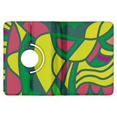 Green abstract decor Kindle Fire HDX Flip 360 Case