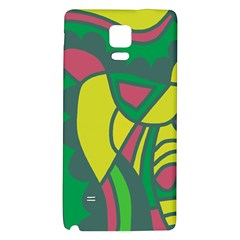 Green abstract decor Galaxy Note 4 Back Case