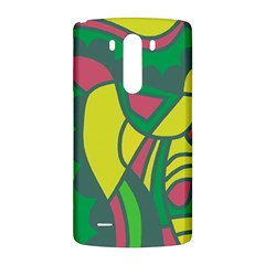 Green abstract decor LG G3 Back Case