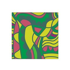 Green abstract decor Satin Bandana Scarf