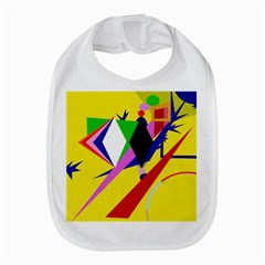Yellow Abstraction Bib
