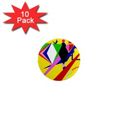 Yellow abstraction 1  Mini Magnet (10 pack)