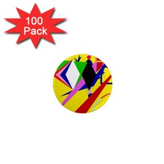 Yellow abstraction 1  Mini Magnets (100 pack)
