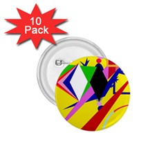Yellow abstraction 1.75  Buttons (10 pack)