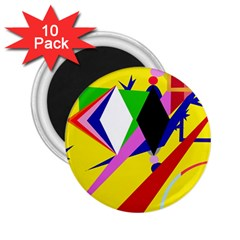 Yellow abstraction 2.25  Magnets (10 pack)