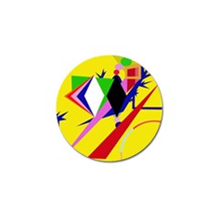 Yellow abstraction Golf Ball Marker (10 pack)