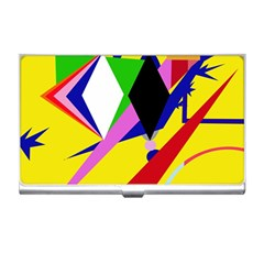 Yellow abstraction Business Card Holders