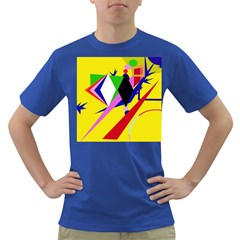 Yellow abstraction Dark T-Shirt