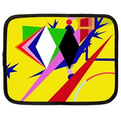 Yellow abstraction Netbook Case (Large)