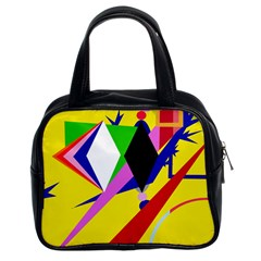 Yellow abstraction Classic Handbags (2 Sides)