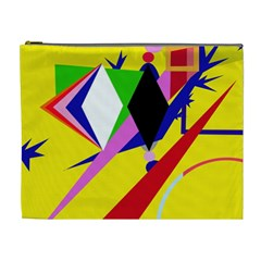 Yellow abstraction Cosmetic Bag (XL)